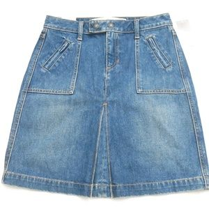 GAP Whiskered Authentic Zip Fly Denim Skirt Size 1